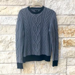 J Crew Cable Knit Crewneck Chunky Sweater
